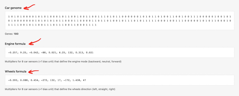 Примеры значений генома и коэффициентов
